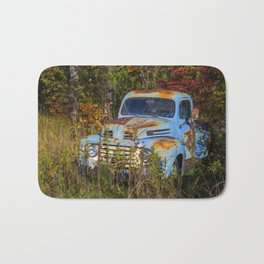 Old Blue Truck Bath Mat