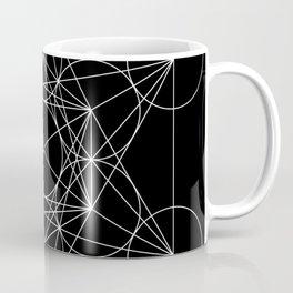 Metatron's Cube Black & White Coffee Mug