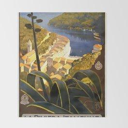 La Riviera italienne, Portofino près de S.Margherita et Rapallo Throw Blanket