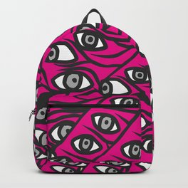 Freddie Eyeballs Fuschia Hot Pink Red Backpack