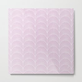 Art Deco Lavender Fields by Friztin Metal Print