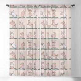 Chihuahua Yoga Sheer Curtain