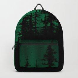 Dark Forest Under Aurora Backpack