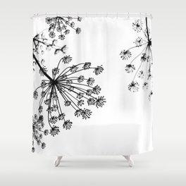 FENNEL UMBRELLAS Shower Curtain