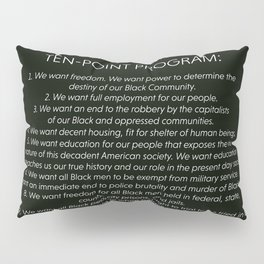 Black Panther Party 10 Point Program Pillow Sham