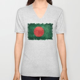 Flag of Bangladesh, Vintage Retro style Unisex V-Neck