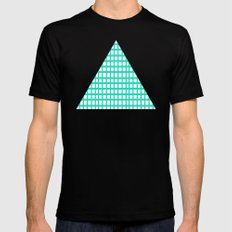 LINES in MINT Black Mens Fitted Tee MEDIUM