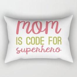 MOM is code for SUPERHERO Rectangular Pillow