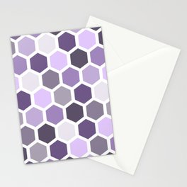 Colorful honeycomb pattern 2 Stationery Cards