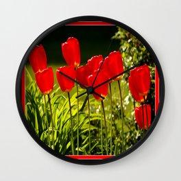 tulip impressions Wall Clock