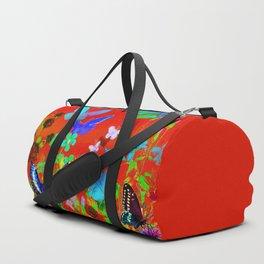 Red Butterflies & Flowers Duffle Bag