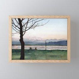 at Lake Constance Framed Mini Art Print