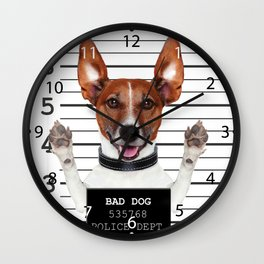 Jack russell prisoner Wall Clock