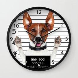 Jack russell prisoner Wall Clock