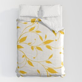 FLOWERY VINES | white yellow Comforters