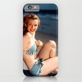 Marilyn on the beach iPhone Case