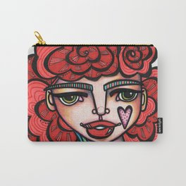 JennyMannoArt Colored Illustration/Lucy Carry-All Pouch