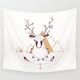 Christmas Geo Deer 2 Wall Tapestry