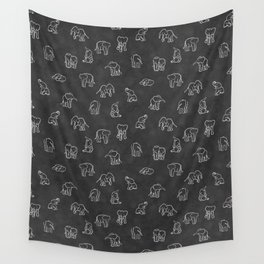 Indian Baby Elephants Blackout Wall Tapestry