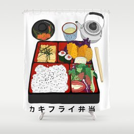 Japanese Bento Box Shower Curtain