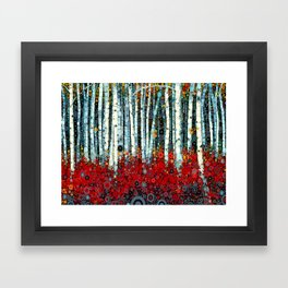 :: Begonia Birch :: Framed Art Print