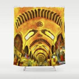 Spice Bazaar Istanbul Van gogh Shower Curtain