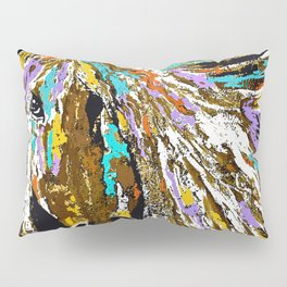Horse Abstract Oil Painting Pillow Sham