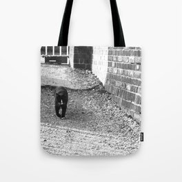 Railway Cat Greeting Tote Bag