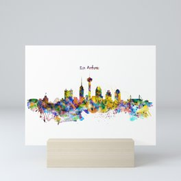 San Antonio Skyline Silhouette Mini Art Print