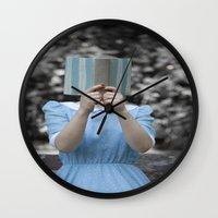 reading Wall Clocks featuring Reading by Maria Heyens