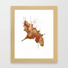 Smushed Butterfly Framed Art Print