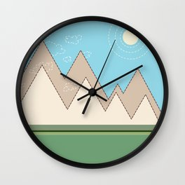 simple mountains Wall Clock