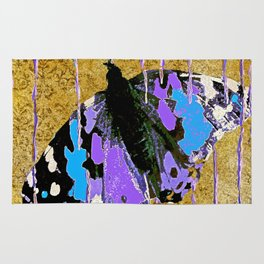 Butterfly Vison in Blue and Purple Rug