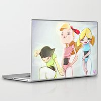 powerpuff girls Laptop & iPad Skins featuring Powerpuff Girls by animatorlu