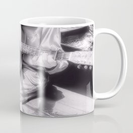 Guitar Man - Black and White Coffee Mug