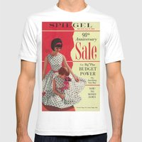 1963 - 98th Anniversary Sale -  Summer Catalog Cover MEDIUM White Mens Fitted Tee