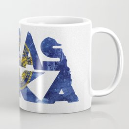 Nebraska Typographic Flag Map Art Coffee Mug