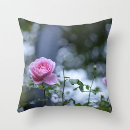 Roses and Shadows Throw Pillow