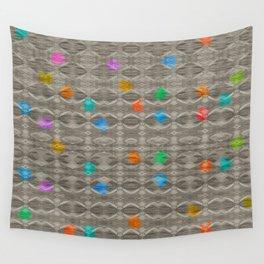 Gemstone Glitch Contrast Pattern Wall Tapestry