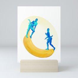 Josephine Plays at the Banana See-saw Mini Art Print