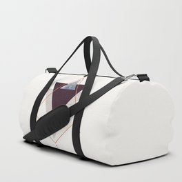 PLUM COPPER AND BLUSH GEOMETRIC Duffle Bag