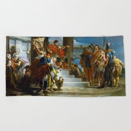 Scipio Africanus Freeing Massiva by Giovanni Battista Tiepolo (1721) Beach Towel