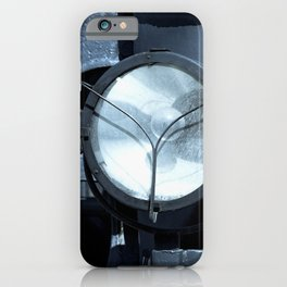 Electrical Lamp Headlight Of A Vintage Locomotive iPhone Case