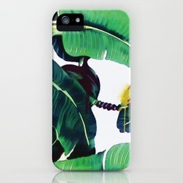 Martinique Banana leaf Beverly Hills Print Watercolor iPhone Case