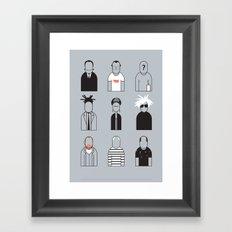 Artists icons Framed Art Print