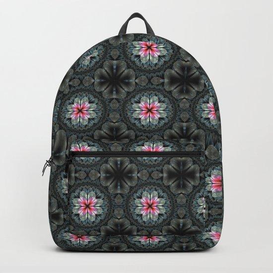 Artistic fractal fantasy flower and petals Backpack