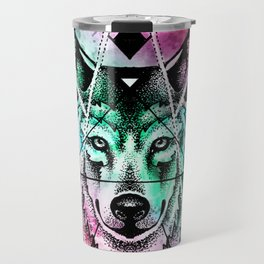 wolf mandala Travel Mug