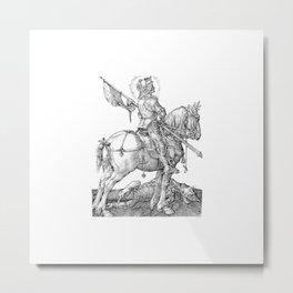 Saint George Horseback Metal Print
