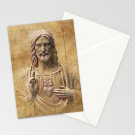 Vintage Drawing of Jesus Christ - Religious Stationery Cards