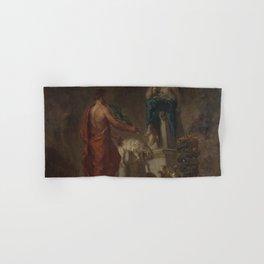 Eugne Delacroix - Lycurgus Consulting the Pythia Hand & Bath Towel